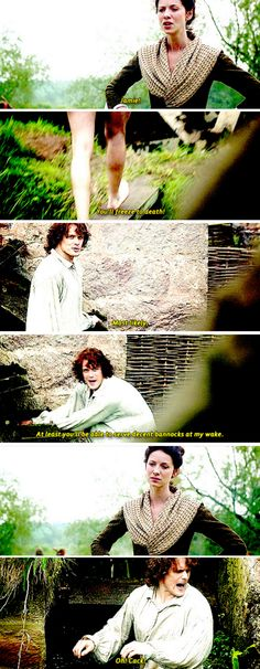 """At least you'll be able to serve decent bannocks at my wake."" [GIFSET] 1x12 Lallybroch"