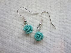 Lil Blue Rose earrings featuring petite by TheHoneyBeeCrafts Clothing Boxes, Blue Roses, Rose Earrings, Great Gifts, My Etsy Shop, Unique Jewelry, Twin Peaks, Inspiration, Vintage