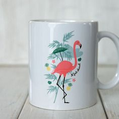 Le mug flamant rose et ananas, collection summer