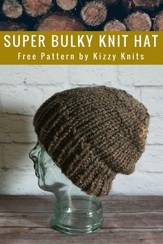 Kizzy Knits: FREE Pattern: Classic Super Bulky Knit Hat