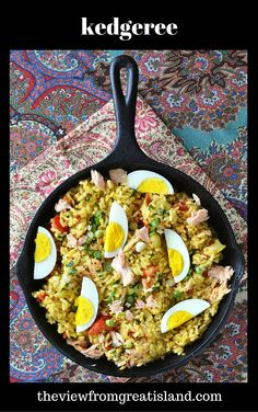Kedgeree is classic British comfort food with a touch of the exotic!