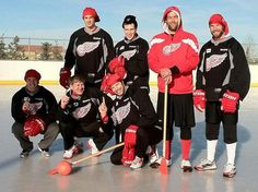 I'm in love. broomball with the wings.