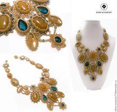 Купить Колье из Luxury коллекци «lovely lady» - золотой, колье, ажурное украшение, ажурное колье
