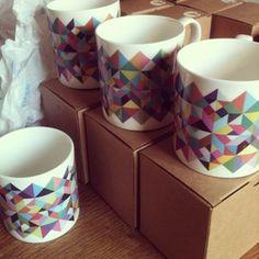 Geometric Mugs by Matt Keers