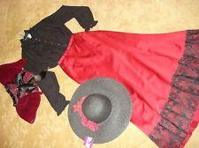 $65.00 VICTORIAN Titanic Dickens Music Man Edwardian black top/skirt/cape/hat costume 6