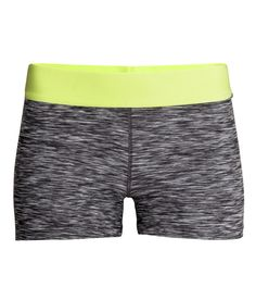 Sport shorts in fast-drying fabric with neon elastic waist & hidden key pocket. | H&M Sport