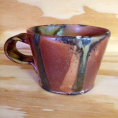 Wood Fired Mug with Stripes by earthfired on Etsy, $32.00