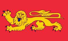 Flag of Aquitaine - Regiones de Francia -