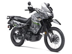 The rugged and tough Kawasaki KLR 650 CAMO motorcycle is built for adventure. Riders will benefit from the motorcycle's phenomenal fuel range and dual-purpose capabilities on pavement or off-road. Kawasaki Motorcycles, Motorcycles For Sale, Atv Riding Gear, Kawasaki Vulcan 900 Classic, Klr 650, Enduro Motorcycle, Camo Colors, Dual Sport, Dirtbikes