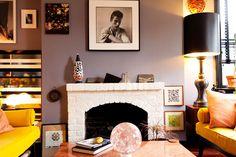 Living room of Philip Crangi via The Selby