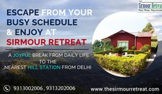 The Sirmour Retreat #LuxuryResort in #Nahan is one of the least known #HillStations near #Delhi, and famous for its amazing #Services. Visit: 👉https://goo.gl/uGFhef Contact Us☎️ +91-9313002006 / +91-9313202006
