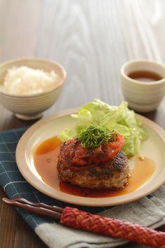 焼きトマトハンバーグ by 西山京子/ちょりママ | レシピサイト「Nadia | ナディア」プロの料理を無料で検索