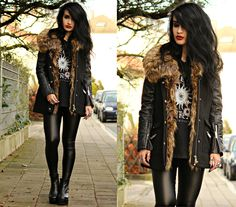The coziest jacket ever. All details and pictures on my blog www.tessadiamondly.blogspot.com now - have an awesome new week!  --> http://tessadiamondly.blogspot.de/2015/01/outfit-all-black-everything.html Love xx