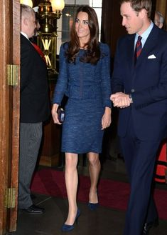 """<span style=""""font-size:medium;""""><strong>Royal Blue</strong></span><br> Middleton chose a Rebecca Taylor suit for a April 26, 2012 appearance at London's Goldsmiths Hall."""