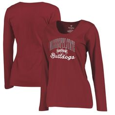 Mississippi State Bulldogs Fanatics Branded Women's Plus Sizes Victory Script Long Sleeve T-Shirt - Maroon