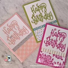 Happy Friday! Crafting on the weekend? Why not try these super quick & easy birthday cards? #birthdaycard #weekendcraft #dsp #stampinup #dlbcraft