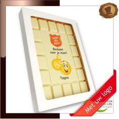 Breektablet *Rechthoek*  Bedankt voor je inzet. Lekkere chocolade voorzien van een logo. # chocolade met logo # relatie geschenken # promotie chocolade