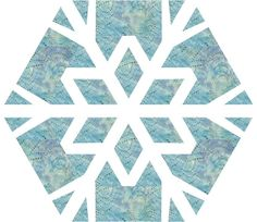 Snowflake #2 quilt block pattern on Craftsy.com