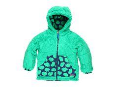 Patagonia Kids Baby Reversible Tribbles Jacket (Infant/Toddler) Pokey Dot/Brilliant Green - 6pm.com