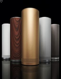 These sleek wireless speakers for my desk at work because the boss said yes you need nice speakers now :)