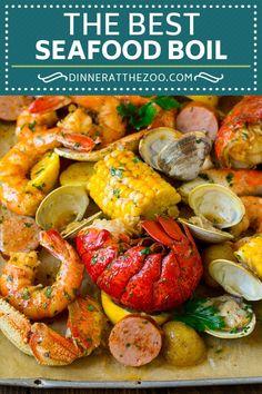 seafood boil / seafood boil _ seafood boil recipes _ seafood boil sauce _ seafood boil party _ seafood boil in a bag _ seafood boil recipes cajun _ seafood boil recipes in a bag _ seafood boil in oven Cajun Seafood Boil, Shrimp And Crab Boil, Seafood Broil, Seafood Boil Recipes, Seafood Dinner, Cajun Recipes, Shrimp Recipes, Cooking Recipes, Louisiana Seafood