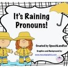 FREE! This is a cute little activity to target different types of pronouns. Comes with pronoun mats, flash cards, blank flash cards, and B&W printabl...