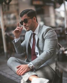 Beautiful gray suit #menswear #suitup #suits