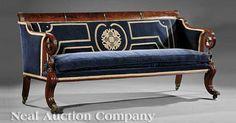 American Classical Mahogany Sofa, early 19th c.,