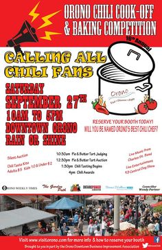 Orono Chili Cook-Off and Baking Contest