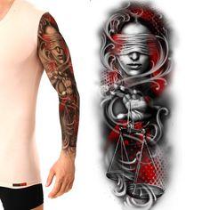 Lady justice Full sleeve Trash polka be creative Tattoo contest design – Food recipes Full Sleeves Design, Full Sleeve Tattoo Design, Full Sleeve Tattoos, Zodiac Tattoos, Tribal Tattoos, Girl Tattoos, Tattoos For Women, Metallica Tattoo, All Seeing Eye Tattoo