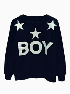 Black Sweatshirt In Stars Print(Couple Style For Women And Men)