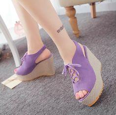 CW37474 Korean style sandals platform for women
