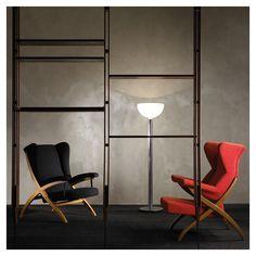Snake Ranch | styletaboo:   Franco Albini - Black PL44 armchair...
