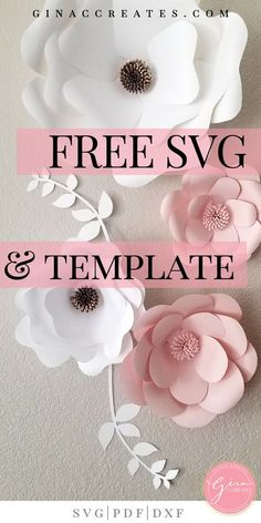 Free SVG & Printable Paper Flower Template Free SVG & Printable Paper Flower Template Gina C. Creates The post Free SVG & Printable Paper Flower Template appeared first on Paper Ideas. Free Paper Flower Templates, Paper Flower Tutorial, Templates Printable Free, Printable Paper, Flower Template Printable, Paper Flower Patterns, Paper Cutting Templates, Origami Templates, Box Templates