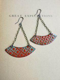Courtney Fischer Jewelry, lovely enameled earrings.
