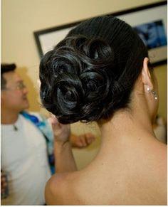 Pin Curl Up Do #WeddingUpdos