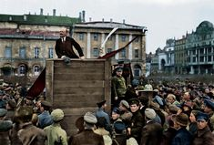 october revolution led by vladimir lenin, 1917 (colorized by me) : OldSchoolCool All About Eyes, What Is Life About, Old Circus, Vladimir Lenin, Colorized Photos, Circus Performers, Photo Essay, Life Moments, Historical Photos