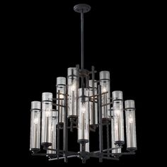 Ethan Multi Tier Chandelier by Feiss Rustic Lighting, Home Lighting, Lighting Ideas, Foyer Chandelier, Chandelier Lighting, Hanging Pendants, Florida Home, Candelabra, Clear Glass