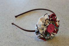 Fabric Ruffle Flower Headbands