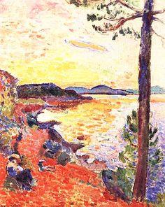 1904 Henri Matisse - The Gulf of Saint Tropez hr - Kunstsammlung Nordrhein-Westfalen, Dusseldorf Henri Matisse, Matisse Art, Manet, Art Fauvisme, Matisse Paintings, Raoul Dufy, Pierre Auguste Renoir, Post Impressionism, Art Plastique