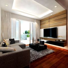 By: Login to and get free interior design plans from various interior designers and save your trouble from visiting dozen of interior films. Free Interior Design, Interior Design Companies, Interior Decorating, Hall Design, 3d Design, Design Ideas, Small Space Office, Living Room Tv, Home Renovation
