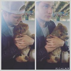 Jace-Dom on the set adorable puppy! Family Tv Series, Shadowhunters Tv Series, Dominic Sherwood, Jace Wayland, Clace, The Infernal Devices, Shadow Hunters, The Mortal Instruments, Love At First Sight