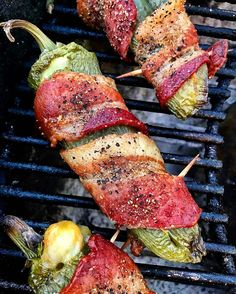 If cheese-stuffed and bacon-wrapped grilled jalapeño poppers are wrong. I just don't wanna be right!! . Courtesy: One of the coolest dudes in Q - Brad Barger @bradbarger | Check out his feed for great grilling ideas  . #party #fiesta #grill #grilling #bbq #barbecue #carne #churrasco #farmtotable #fresh #organic #pork #bacon #tacos #mexican #spicy #instagood #foodstagram #foodgasm #foodporn #beer #cerveza #chef #meatlover #carnivore #paleo #glutenfree #myfoodeatsyourfood