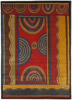 'Aboriginal design rug'