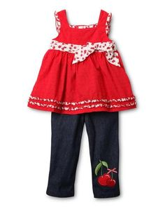 Cute top and pants too - cherries on eBay from Century 21 for $11.31