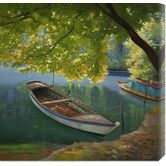 Found it at Wayfair - 'Barca sul fiume' by Adriano Galasso Stretched Canvas Art