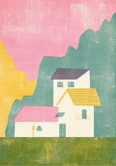 screen print illustration by Barbara Dziadosz