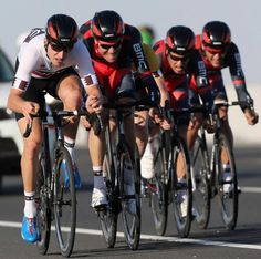 """""""Taylor Phinney leads his BMC teammates"""" was the article title, but in this shot he's dragging them along.  You can see the pain on their faces as he turns his motor up to """"11""""."""