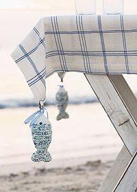 idea para que el viento no se lleve el mantel!!! #piedras #mantel #verano