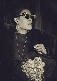 Billie Holiday - Especially love the glasses!!